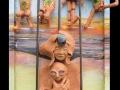 Bábu vagy (falapon kerámia és ásvány) 35x50cm