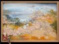 Befejezetlen... id. Markó Károly parafrázis (falapon kerámia) 70x50 cm