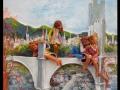 A hídon (falapon kerámia) 50x70 cm