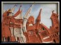 Város a kubizmusban (falapon kerámia) 70x50 cm