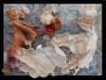 Vörös és Fehér (falapon kerámia) 70x50 cm