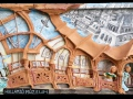 Hullámzó múzeum (falapon kerámia) 70x35 cm