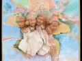 Áttűnések (falapon kerámia) 34x34 cm